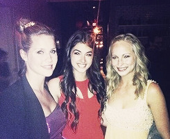 kalijahkiss:  TVD wrap party s4