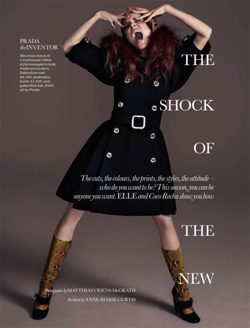 """The Shock of the New"" (+) Elle UK, August 2011 photographer: Matthias Vriens-McGrath Coco Rocha"