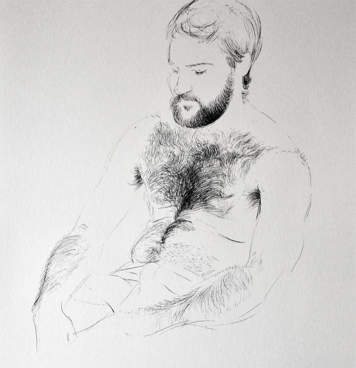 thedailydrawingproject:  Guillaume, mercredi 24 avril2013 / feutre sur papier40 x 28 cmby Olivier Flandrois [ Follow The daily drawing project ]