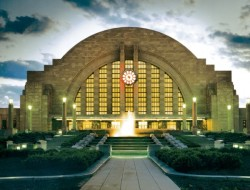 Photo: buildipedia.com. Union Terminal by Alfred T. Fellheimer, Steward Wagner, Paul Philippe Cret, and Roland Wank. 1933. Cincinnati, Ohio.