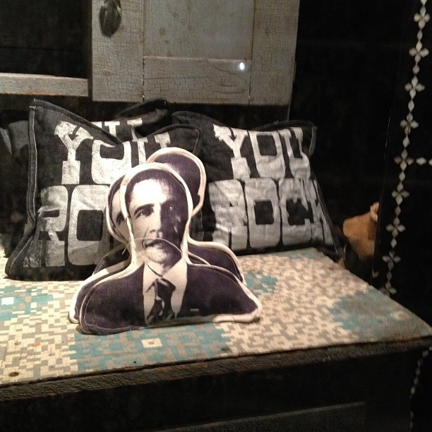 Pillow tells the truth. #obama #ephemera #nyc