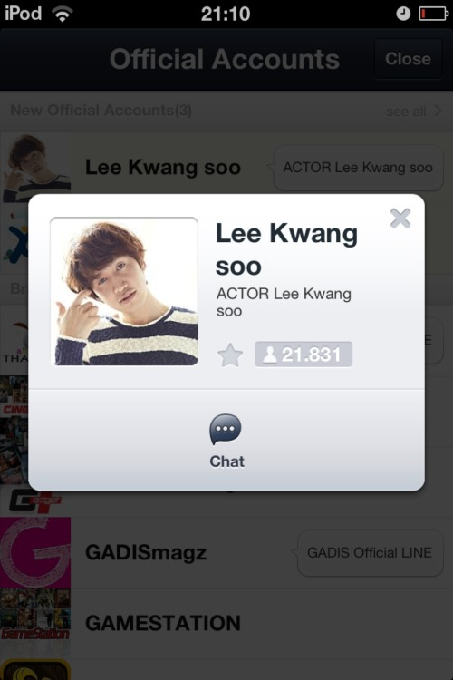 Lee Kwang Soo punya LINE!!! – View on Path.
