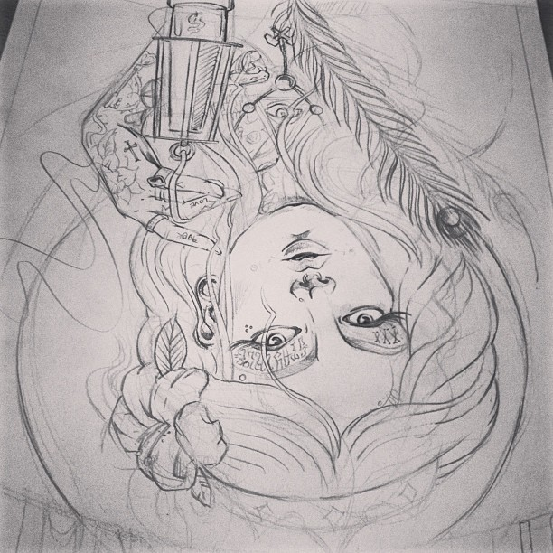 #katowice #tattoo #konwent 2013 #sketch #illustration #poster #inprocess