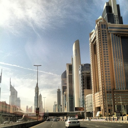 Dubai architecture is just amazing #dubai #uae #unitedarabemirates #emirates  #arab #architecture #building #buildings #design #desert #sky #road #car #city #cityscape #skyscrapers #sun #gulf #amazing  (at Dubai)