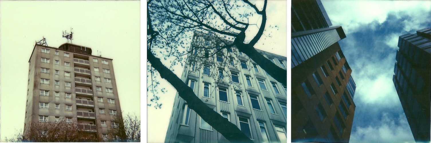 Buildings on polaroids