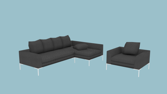 IKEA Popular Leather Sofas in Black Shade