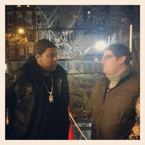 "nbcsnl:  Kenan and @bibbymoynihan during a pretape shoot on this ""beautiful"" NYC night. #BeastUnit #SNL"