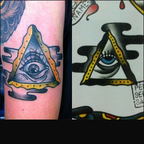 All seeing eye, inpired by the one on the wall by @pedrosantostattooer check out his awsome stuff! (em Glorybound Tattoo Parlor)