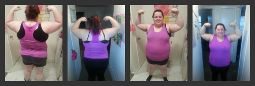 beforeandafterfatlosspics:  kayshaislove  This is my FIRST before and after since I started my weightloss journey on 04-03-13! I am 24 years old and I am 5'1! In the last month I have lost 12 pounds and, though I have a long ways to go, its awesome being able to already see a difference, even if its small :) All I have done is cut back on eating out as much, cooking the foods I love at home using healthier alternatives, and exercising! No matter how big or small your weightloss journey may be, just STARTING is the most important! Due to my size, I couldnt even hardly walk for long without my lower back killing me! I started with just walking 2 laps (0.5 a mile) and each day I added one more lap each day (took some advil to help with the back pain, as well as doing stretches and back strengthening exercises at home). Within a short time (a couple weeks) I was up to walking 3 miles a day! I walked my first 5k at the color run in Austin last weekend! Set small goals, each time you meet it, try for another! I have now completed 3 crossfit classes and although it is REALLY hard, I push myself to get through it because i know that my LIFE depends on it! Believe it and Achieve it! :D HW: 280SW: 278CW:268GW:130 -12 GONE! Many more to go!   Follow me! :) www.kayshaislove.tumblr.com
