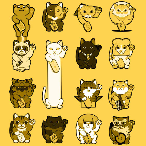 luckycatproject:  Maneki LOLneko Up for vote on Threadless.  Only one more day to vote on this design at Threadless!