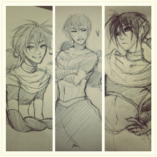 inabottleofstars:  Me, Ellen, and Yssa drew Judal in our class today (●´∀`●)  benefits of being in class together