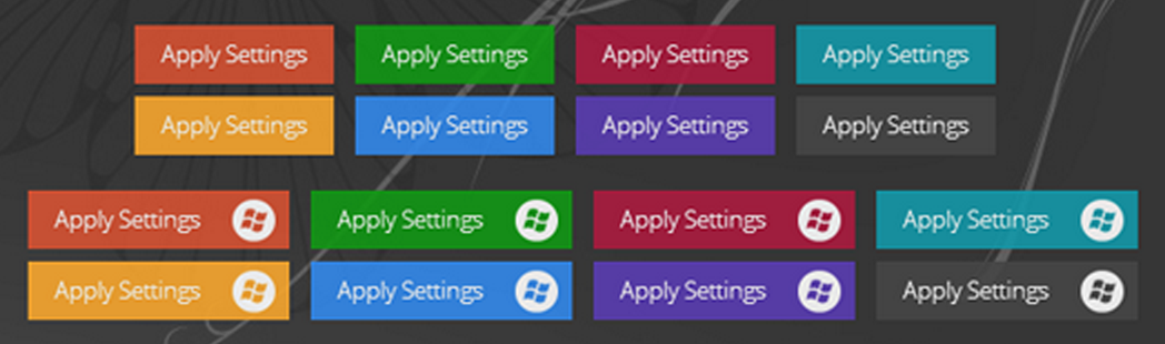 Windows 8 CSS buttons