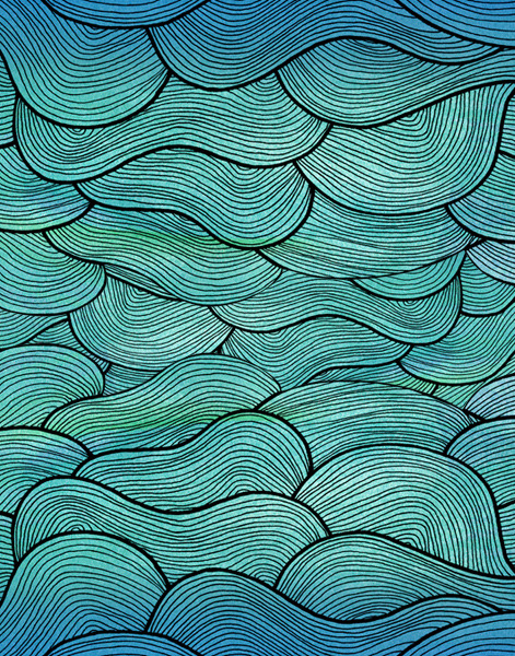 "city-of-vultures:   ""Sea Waves Pattern"" pomgraphicdesign  (United States) via Curioos"