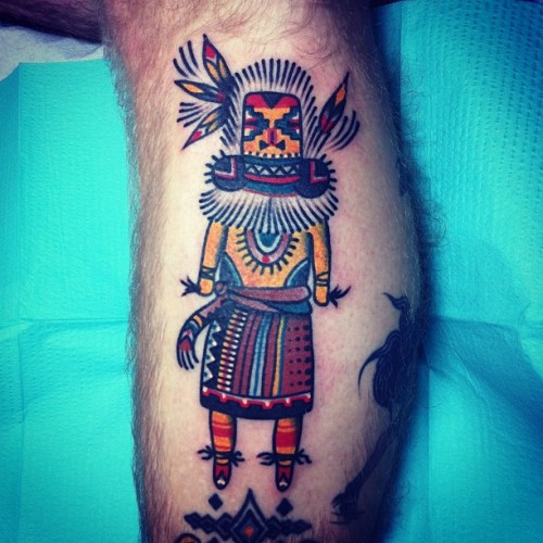 joshstephenstattoos:  Kachina doll on @danielrockburn the sister to one @ourtrespasses did (at Hold It Down Tattoo)