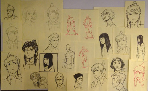 animationtidbits:  Legend of Korra - Ian Graham Warm-Up Doodles