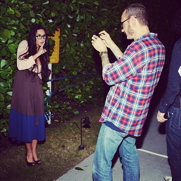framenoir:  Demi Moore & Terry at #HTCLovesTerry last night! (cc @ohwowgallery @htc @terryrichardsonstudio)