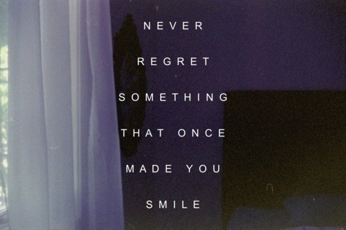 taylormadeeeee:  no regrets | via Tumblr on We Heart It. http://weheartit.com/entry/61323555/via/BeverlyC