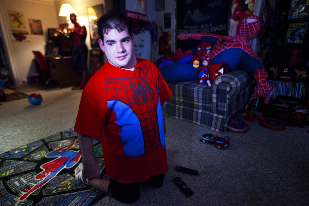 "Meet Spider-Man's ""biggest fan"" - Photo by Marie D. De Jesús Justin Presciutti, 21, of Greece has surrounded his entire life around the Spider-Man character. His passion for the super hero won him a spot as an extra at The Amazing Spider-Man 2 filming in Rochester and the opportunity to meet and spend time with the production crew of the film. Sun., May 5, 2013. Photo by Marie De Jesus"