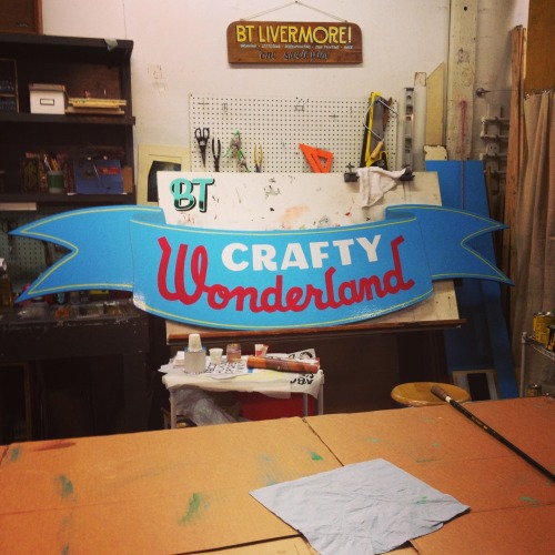 A little mid-evening process shot on this sign for the Crafty Wonderland store in downtown Portland.