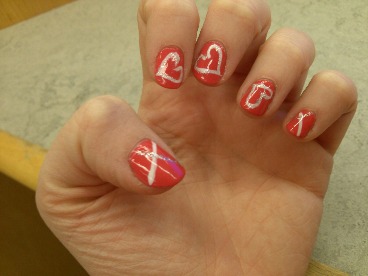@istepfunny's Valentines Day nails