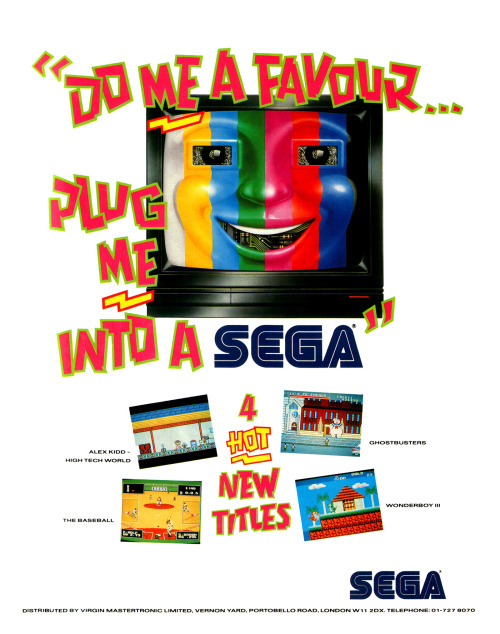 Here's a creepy TV advertising the Sega Master System.