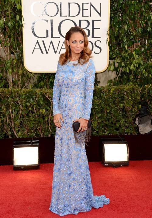 fashionfeude:  Nicole Richie in Naeem Khan at the Golden Globes- Hollywood
