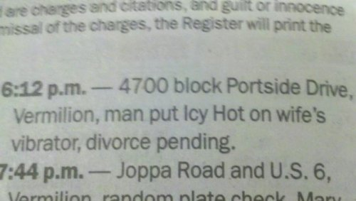 Man Gets Icy Hot Revenge on Wife  Who uses a vibrator at 6:12 PM?
