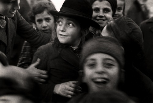 "blakegopnik:  DAILY PIC: This photo of Jewish schoolchildren in the town of Mukacevo, now part of Ukraine, was taken by Roman Vishniac sometime between 1935 and 1938, when he was documenting the sorry state of the Jewish population in Eastern Europe – which was about to get so much worse.  The image is now in his show at the International Center of Photography in New York. The exhibition makes clear how much Vishniak's ""simple"" documentation owes to avant-garde art and photography from earlier in the century. That's doubly clear when you look at the much straighter photojournalism by Chim that's on view one floor up at the ICP, and that was done at precisely the same time. I have to admit that the stylishness of Vishniak's vision helps sell me on his subjects – even though his Orthodox subjects often resisted the modernity he represents. For a full visual survey of past Daily Pics visit blakegopnik.com/archive. The Daily Pic can also be found at the bottom of the home page of thedailybeast.com, and on that site's Art Beast page.  Like the 1930's Russian version of Humans of New York."