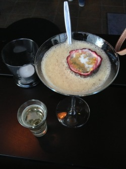 Pornstar martini 2, my all time fave, and a side shot of champagne.