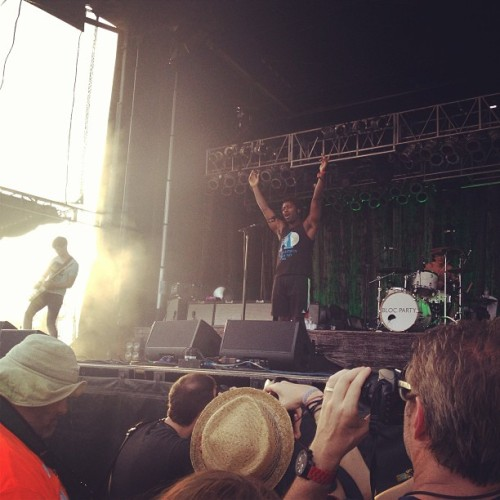 Bloc Party!!!! #blocparty #hangoutmusicfest #theywereperfect #childhooddreamrealized (at Hangout Music Festival 2013)