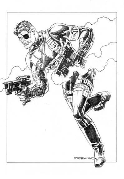 Nick Fury by Jim Steranko.