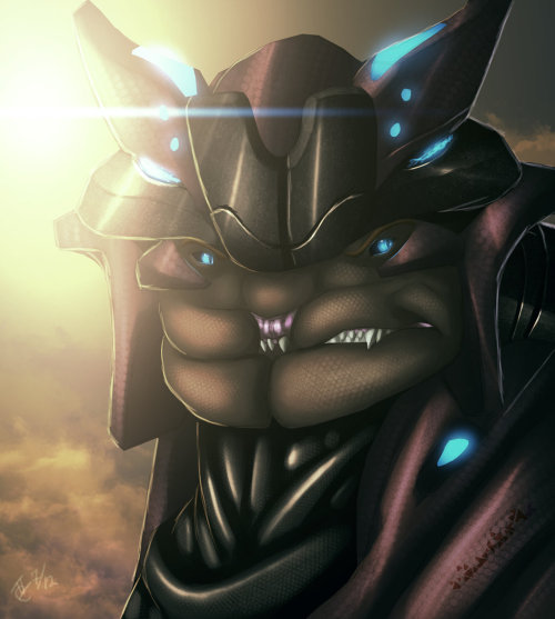 masaru2042:  The Sangheili Pirate by *Ghostwalker2061
