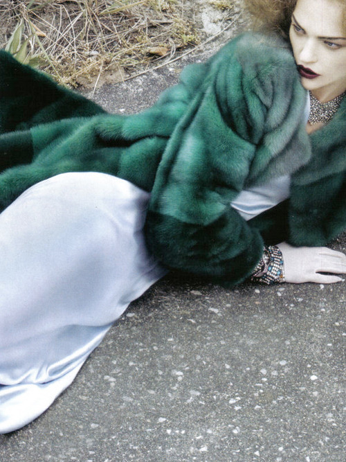 Sasha Pivovarova in 'It's A Matter Of Glam' by Craig McDean for VOGUE Italia Oct. 2009  .