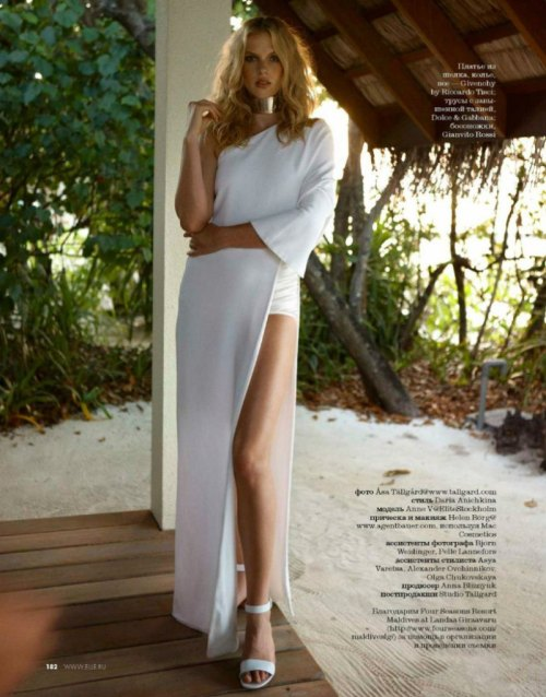 Anne Vyalitsyna by Asa Tallgard for Elle Russia June 2013