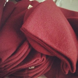 So many new burgundy beanies. Who's grabbing one when the store is back online? (at http://www.partofthekult.com/)