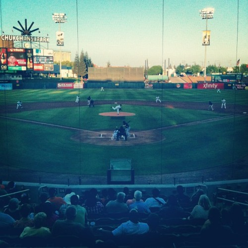 ' @RiverCats vs @FresnoGrizzlies Game 1 (at Chukchansi Park)