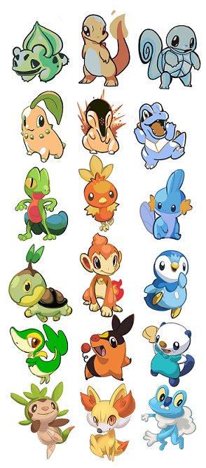 zachmorristoonart:  luvlymilk:  All of the starters drawn in their premier style/colors/shading.  The most distinct are obviously gen 1 and 2, since they had such a limited color pallette. 3 and 4 are pretty similar, though past 3 they stopped using a few shading techniques, but still kept a fair amount of complexity.5 was interesting because they kept pretty much just 3 levels of color/shading on each sprite, and they're all pretty vibrant. Kind of like—- cel-shading, I think. I bet it was because all of the sprites were animated for the first time.And then 6………….. It is hard to emulate a 3D style that we all only saw about 3 seconds of each monster of. Hahaha. Oh well I tried!!!!!  now I want to do more Gen I - II style colorings