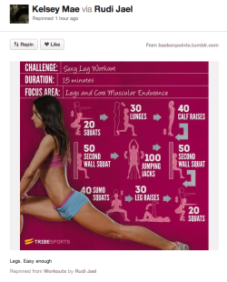 """Easy enough"" leg workout. That doesn't look easy at all."