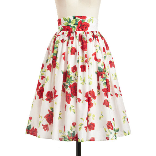Glad Romance Skirt   ❤ liked on Polyvore (see more high waisted floral skirts)
