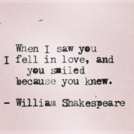 Love this quote from Shakespeare