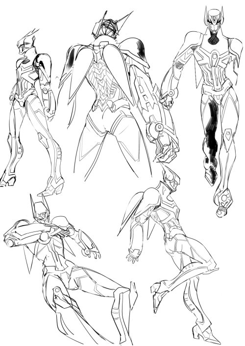 Lazy Hero suit sketches ( ̄ー ̄)