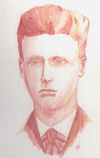 Practice Image: A Young Van Gogh Watercolor pencils and Waterbrush