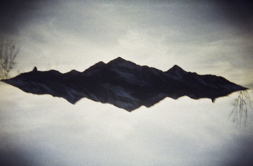 floating mountains. 35mm double exposure from Kaleidoscape.