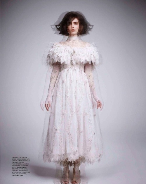 Anouk Hagemeijer in Chanel Haute Couture, Spring 2013 photographed by Kate Davis-MacLeod for Tatler UK, June 2013