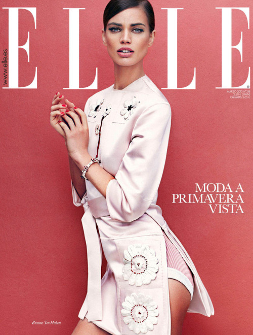 Elle Spain, March 2013, cover (+) photographer: Xavi Gordo Rianne ten Haken