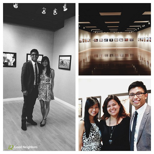 Friday night was the opening of our Water For Life photo exhibit, featuring pictures from our November trip to Chad, Africa to build clean water wells! Pictured here: Our Program Coordinator Luigi, Managing Editor Celeste, and Fundraising Intern Sayuri having a great time working the event. Learn more about how we're bringing clean water to Africa.