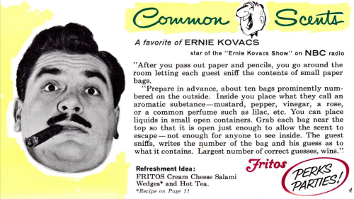 The favorite party game of Ernie Kovacs - Common Scents via