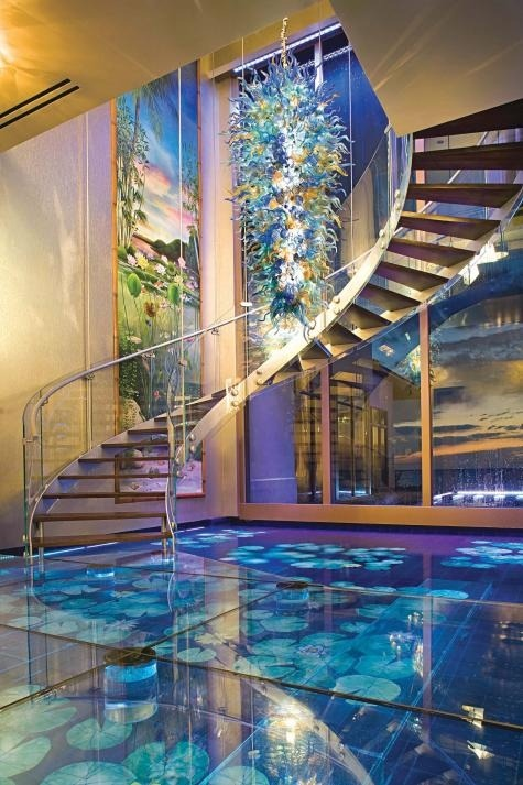 thechocolatebrigade:  Glass floor with pond underneath