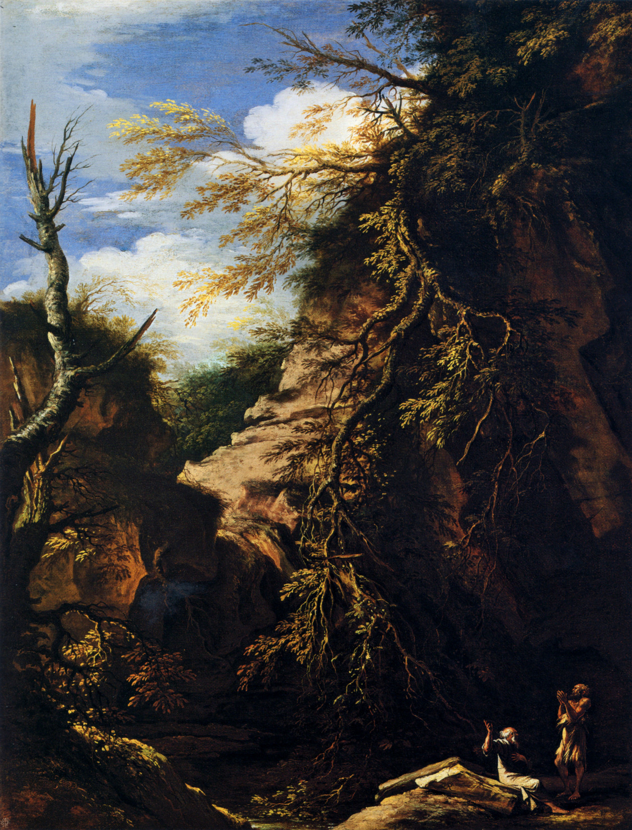 Landscape with Hermits by Salvator Rosa ca. 1655