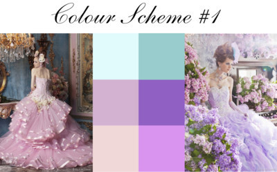 Couture Colour Scheme #1 by thespaceinbetween featuring a bride wedding dress